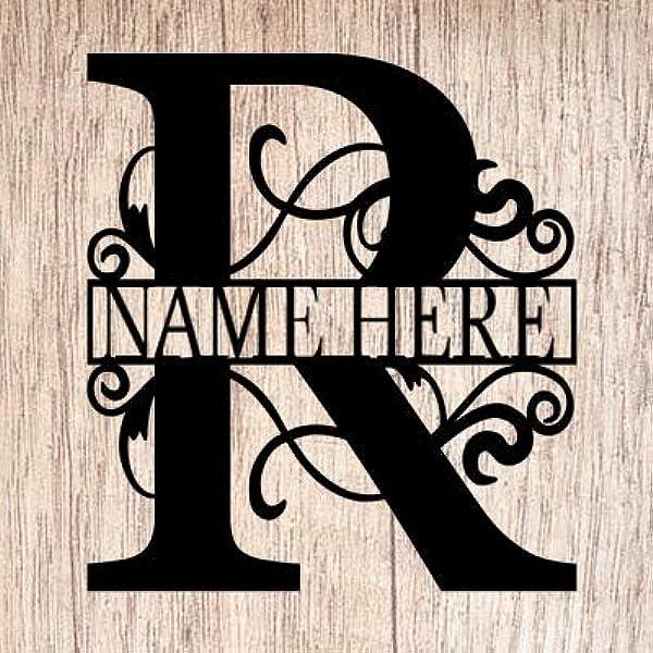 rustic monogram Letter D wreath Letter D door hanger Initial D door hanger wood hanging letters rustic initial wreath