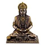 Top Collection Hanuman Statue - Hindu God of Strength Sculpture in Premium Cold Cast Bronze- 7.5-Inch Collectible Figurine