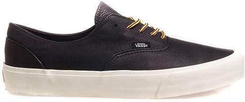 4dcb2eec7a1e7 Vans ERA Decon CA - Zapatillas de Skateboarding de Cuero para Hombre Negro  Leather Black Vanilla Ice