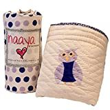 Naaya by Moonlight Organic Animal Quilt (Purple Owl)