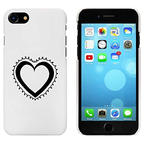 Blanc 'Cœur' étui / housse pour iPhone 7 (MC00056482)