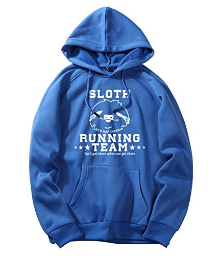 xueshankeji Sloth Running Team Blue Hoodie Sweater For Man S (Online Comforters Shopping)
