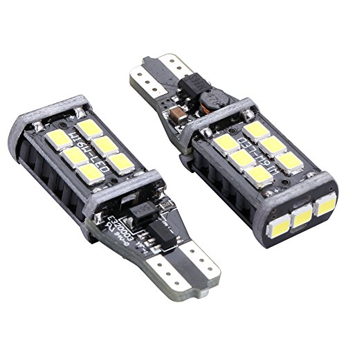 ENDPAGE 800 Lumens 921 912 15-SMD Error Free PX Chipsets Super Bright LED Bulbs for Car Backup Lamp Reverse Lights Xenon White 2pcs