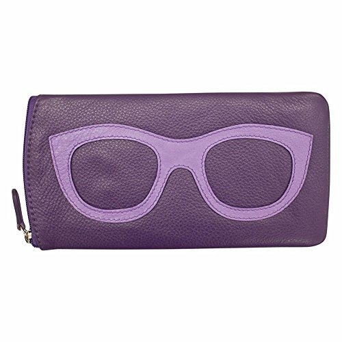 - ili New York 6462 Leather Eyeglass Case (Planet Purple)