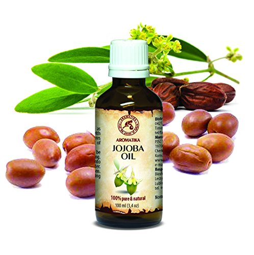 Jojoba Oil 100ml Pure and Natural -Golden Jojoba Oil - Glass - Cold pressed -best benefits for Skin - Hair - Face - Body - excellent with Essential Oil - - Face Glasses Small For Best
