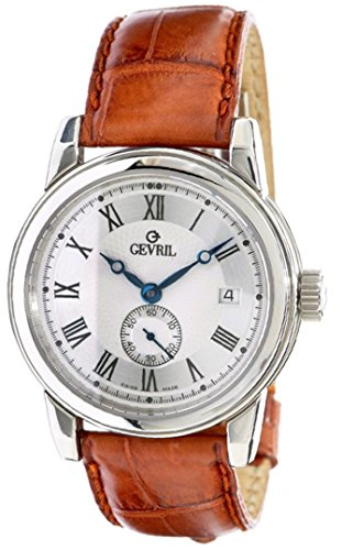 Gevril Limited Edition Madison Brown Leather Band Men's Watch 2502L ()