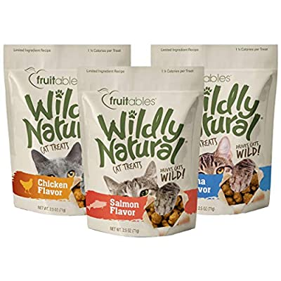 Cat Food Fruitables Wildly Natural Cat Treat Variety Pack with Chicken,... [tag]