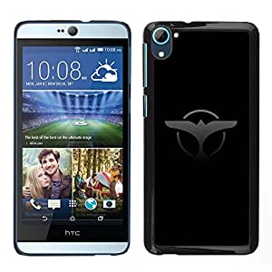 Stuss Case / Funda Carcasa protectora - Eagle Badge Sign Symbol Art Black Grey Drawing - HTC Desire D826