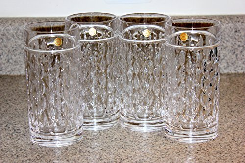 Lauren by Ralph Lauren Designer Barware Aston Highball Crystal Glasses Set of 4 Tall 13.5 Ounces Made In Germany by Ralph Lauren