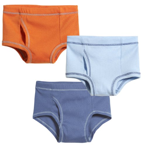 City Threads Boys Briefs Underwear In All Cotton - Toddler Underpants - Perfect For Sensitive Skins SPD Sensory Friendly Clothing 3-Pack, Cool Kid, Size 18-24 - Cotton Organic Each