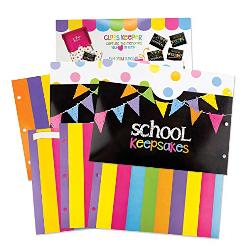 School Memory Scrapbook (3 Sets) Refill Extra Pockets and Photo Pages Kits for Class Keeper Memory Keepsake Book for Girls
