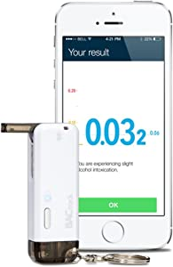 BACtrack Vio Smartphone Keychain Breathalyzer | Bluetooth Connectivity to Apple iPhone, Google & Samsung Android Devices
