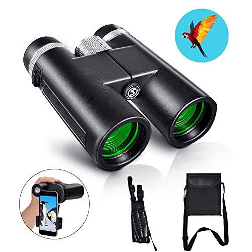 Lowest Price! HD Compact Binoculars,12x42 Binoculars for Adults, BAK4 Prism, FMC Lens,Fog Proof & Wa...