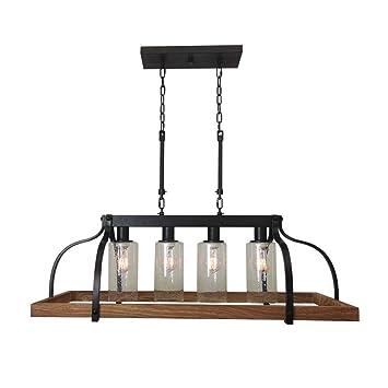 Amazon.com: Creativa lámpara colgante de hierro forjado de ...