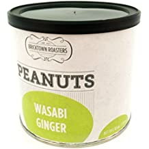 Ginger Wasabi Flavored Peanuts - WORLD FAMOUS Slow Roasted Nuts, Awesomly Unique and Seasoned to Finger Licking Perfection - Small Batch, Artisan Recipe, Great Gift Idea - 12 oz. can
