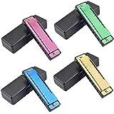 Best Harmonicas - 4PCS Key of C 10 Hole Titanium Color Review