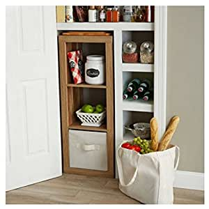 Modern better homes and gardens cube organizer weathered 3 cube kitchen dining for Better homes and gardens 12 cube organizer