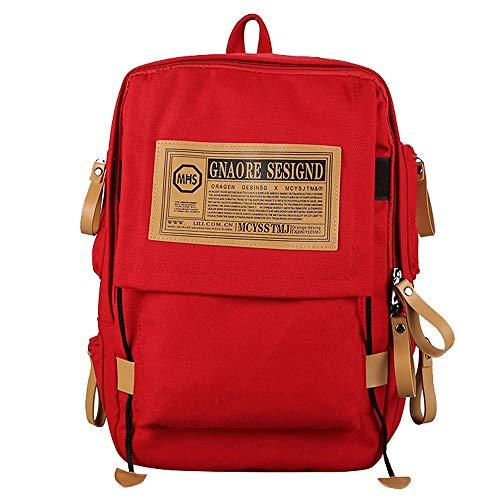 (Clearance!! ZOMUSAR Travel Backpack, Wear-Resistant Computer Bag Unisex Vintage Style Backpack Bookbag School Backpack Travel Bag for Women & Men (Red))