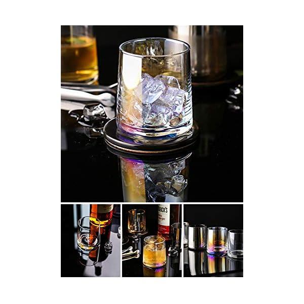 AIKASA - Set di 2 bicchieri da whisky, colorati, soffiati a mano, senza piombo, lavabili in lavastoviglie, regalo… 4 spesavip