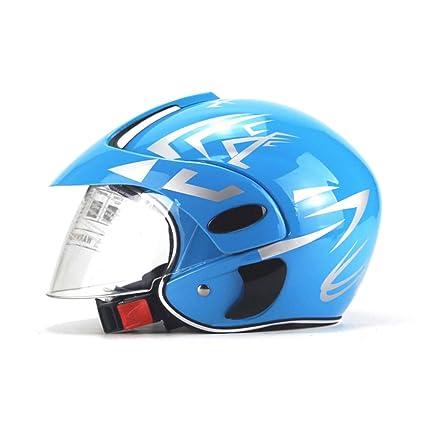 DLD Casco de la Motocicleta, Casco de la Moto eléctrica de Cara Abierta para niños