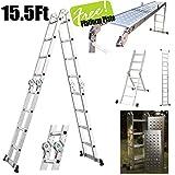 Generic NV_1008001358_YC-US2 EN131ult Folding Aluminum se Fo 15.5' Platform Alum Ladder w/ 2 Free Ladde Multi-Purpose 2 Fre Plate EN131 15.5' P