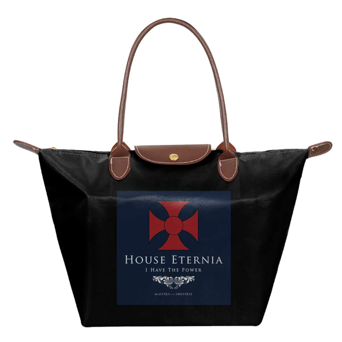 House Eternia I Have The Power He Man Masters Of The Universe Waterproof Leather Folded Messenger Nylon Bag Travel Tote Hopping Folding School Handbags