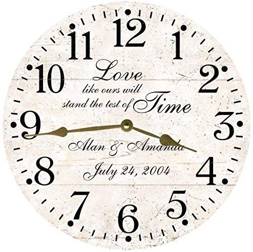 Test of Time Personalized Wedding Clock- Anniversary Clock