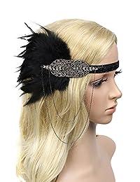 Urban CoCo Women's Fascinator Feather Flower Hair Clip Headwear Bridal Headpieces