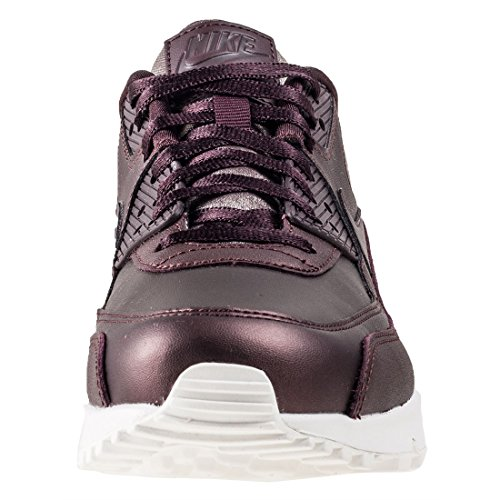 Nike Wmns Air Max 90 Premium Damesschoenen Bordeaux In Bordeaux Leder 896497-903