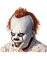 Pennywise Stephen King's It Mask Fire wolf Halloween Decoration Horror Clown Mask
