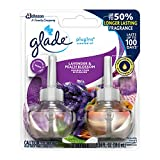 Glade PlugIns Scented Oil Refill Lavender & Peach Blossom, Essential Oil Infused Wall Plug In, Up to 50 Days of Continuous Fragrance, 1.34 oz, Pack of 2