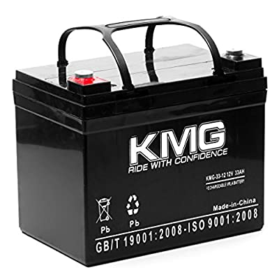 KMG? 12V 33Ah M5 Bolt Sealed Lead Acid SLA KMG-33-12 Battery Replaces Yuasa NP33-12