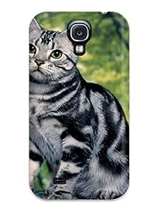 Cute Tpu ZippyDoritEduard Gray Tiger Like Cat Case Cover For Galaxy S4
