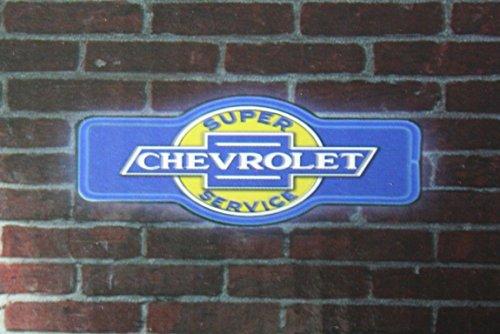 (Chevrolet chevy super service bar led lighted neon sign shop garage home decor)