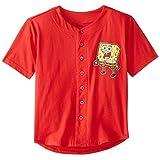 SpongeBob SquarePants Big Boys' Short Sleeve T-Shirt Shirt, Red, Small / 8