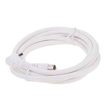 MagiDeal 3 Metros Tv RF Antena Cable Coaxial Cable Macho A F de Conector Satelital