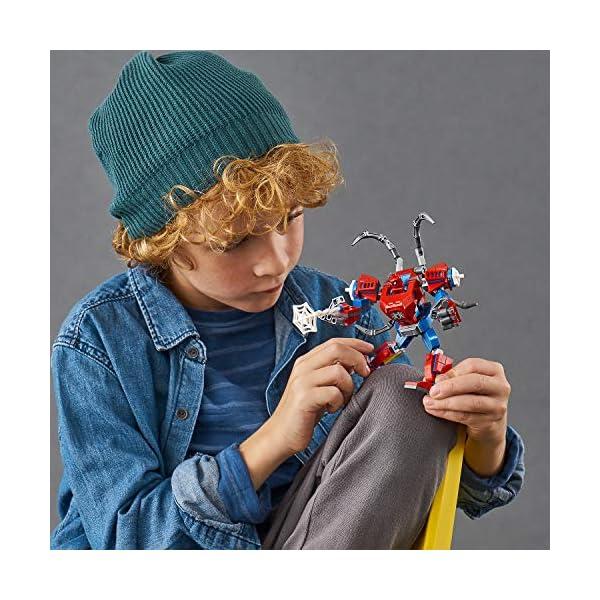 LEGO Super Heroes Il Mech di Spider-Man Set di Costruzioni per Bambini, con la Minifigure di SpiderMan e Ragnatela… 6 spesavip