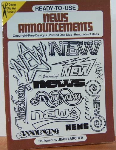 Ready-To-Use News Announcements (Dover Clip Art)