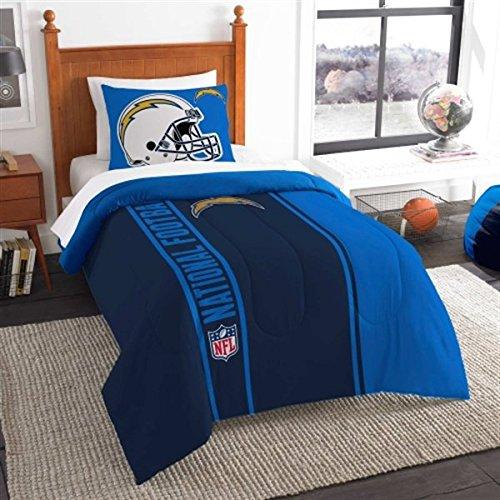 - San Diego Chargers Twin Comforter & Sham Set, NFL Boys 2 Piece Bedding