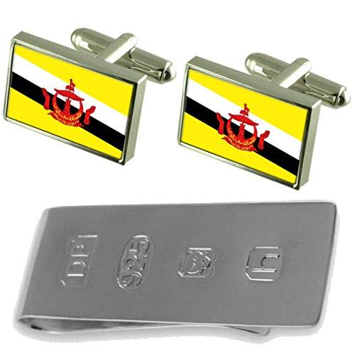 James Cufflinks Clip amp; Bond Flag amp; Clip Flag Money Money Cufflinks James Bond Brunei Flag Brunei Brunei tCqxwO1nP