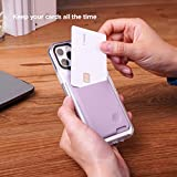 elago Card Pocket [Lavender] - Secure Wallet, Ultra Slim Card Holder 3M Adhesive ID Card for iPhone, Galaxy and Most Smartphones