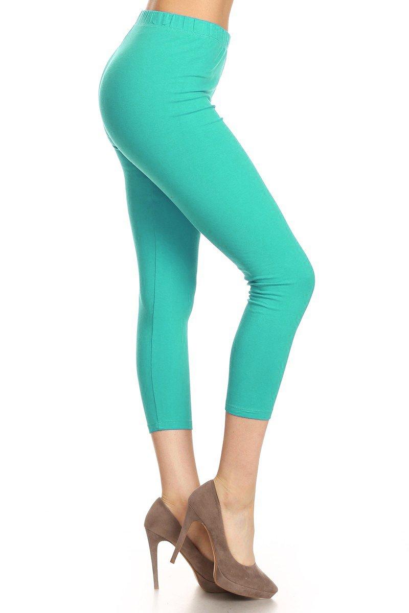 Leggings Depot Women's Premium Cotton Soft Capri Yoga Pants NCL27 51O98gpGLoL