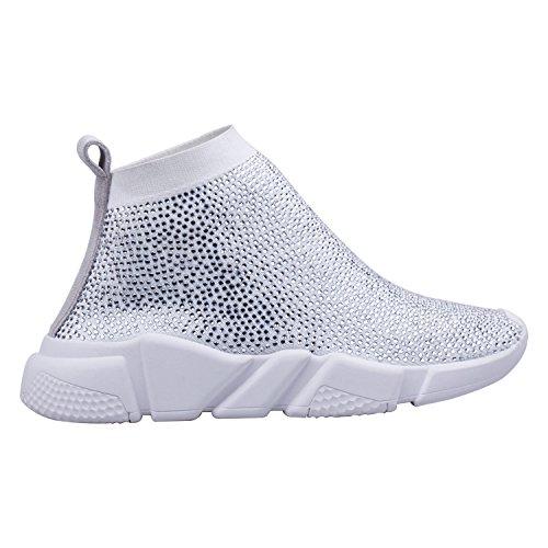 RUN Lona Mujer Color Blanco 36 ZAPROMA para de 01 Zapatillas Talla UTTdqI
