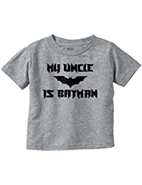 Uncle Is Batman Funny Shirt Lego Nerd DC Comic Cute Baby Gift Toddler Infant T