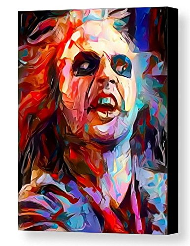 Framed Abstract Beetlejuice 8.5X11 Art Print Limited Edition w/signed COA