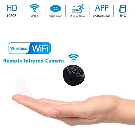 RMXMY Cámara espía Oculta, 1080P HD Infrarrojo Visión Nocturna Detección de Movimiento Videocámara Video Nanny