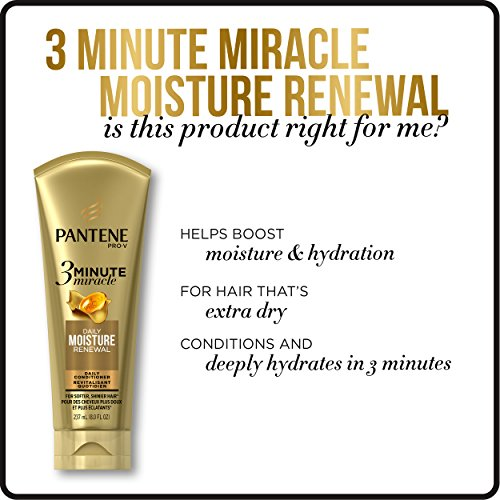 Pantene Moisture Renewal 3 Minute Miracle Deep Conditioner, 6 Fluid Ounce by Pantene (Image #6)