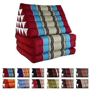 Thai Triangular Cushion With Three Seat Folds - Jumbo Xl - Rainbow Beach 437