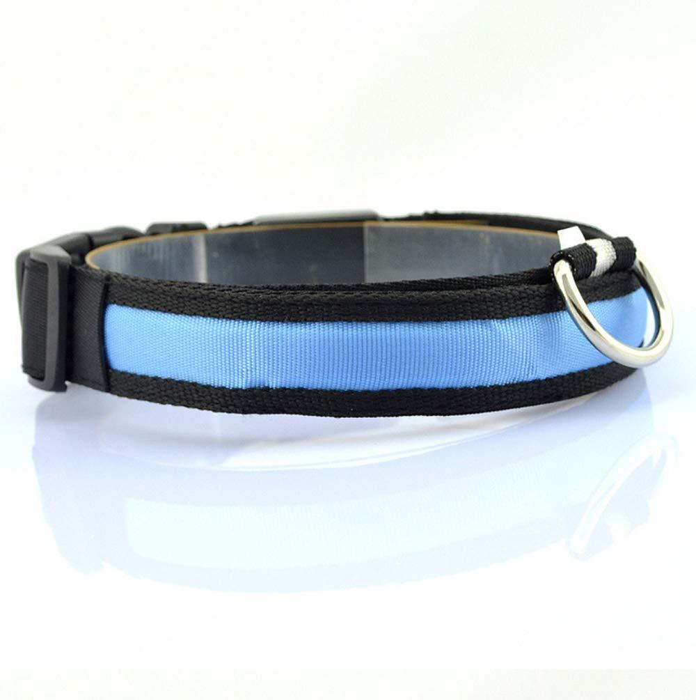 Vi.yo LED Collar de Perro Collar Reflectante con luz LED Collar Para Mascota con luz de Noche Para Perros Peque/ños Medianos Grandes