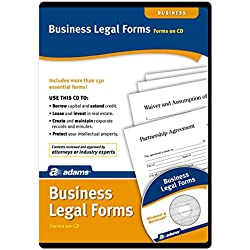 Adams Business Legal Forms and Agreements on CD (SS4323)